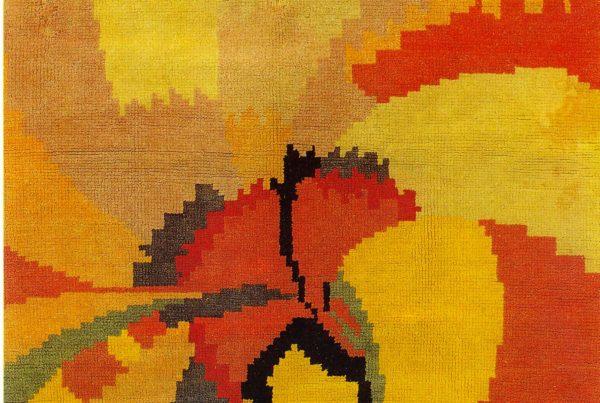 Fioritura-di-un-garofano-tappeto-di-lana