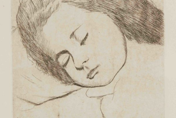 Viso di donna dormiente